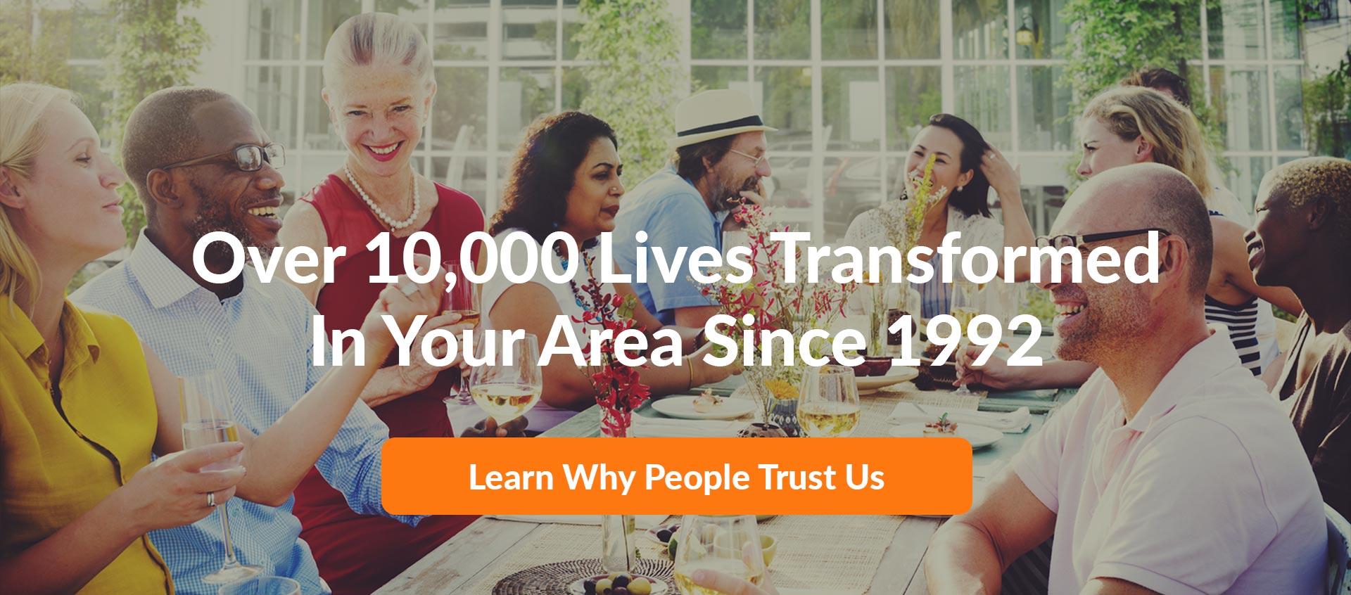 over 10000 lives transformed since 1992